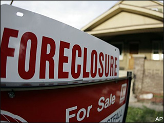 Homeowners who live near a house repossessed by a lender will see their property values drop